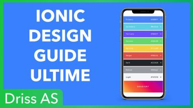 Comment designer une application Ionic