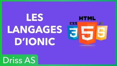 Les langages pour créer une application avec Ionic 4