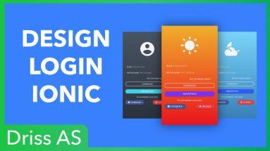 Comment créer une page de connexion design avec Ionic ?