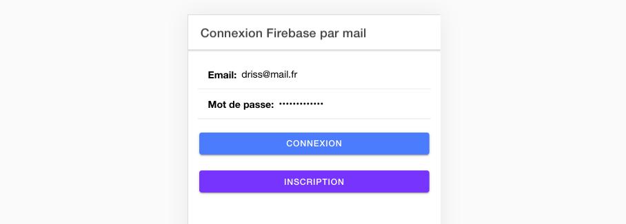 Comment inscrire un nouvel utilisateur par mail dans Ionic ?