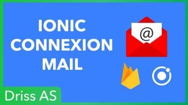 Comment utiliser la connexion par mail dans Ionic avec Firebase ?