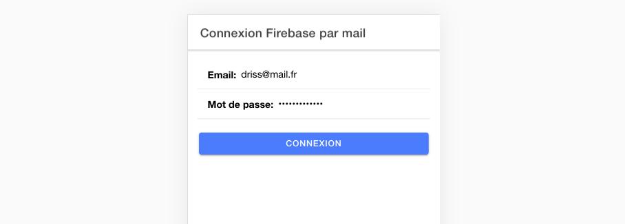 Comment connecter un utilisateur par mail et mot de passe ?