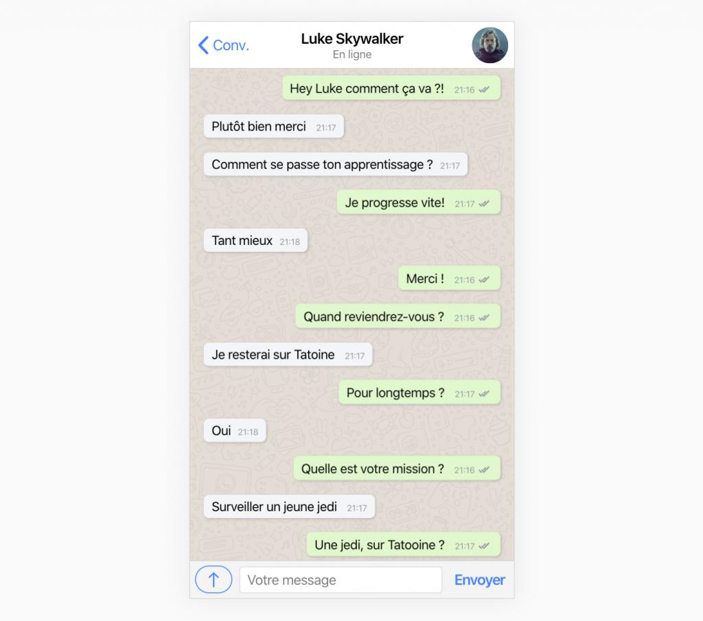Comment créer une page de conversation WhatsApp avec Ionic ?