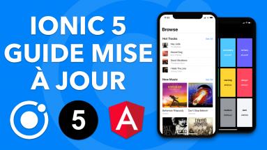 IONIC 5 Le guide ultime de la mise à jour + la liste des nouveautés, iOS, DarkMode, API Animations